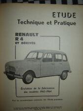 rare revue technique RENAULT  R.4 4L  & DERIVÉS   E.O 1964 / français