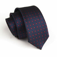 New Blue Red Spot Dot Casual Slim Narrow Mens Tie UK Seller Father Suit Gift