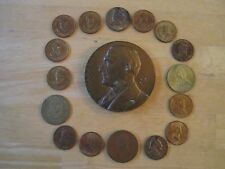 """Lot of (17) Medals of U.S. Presidents, 3"""" Harding Bronze Inauguration Medal"""