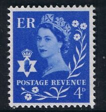 GB QEII Northern Ireland SG NI2 4d Ultramarine. Regional Wilding Definitive MNH