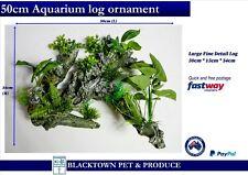 AQUARIUM FISH TANK ORNAMENT Large 50 cm Log Plant Decor
