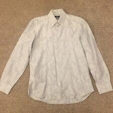 Hugo Boss Men's Grey Long Sleeved Shirt 39/40 Medium Slim Fit RRP £99