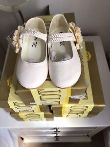 Genuine Leather Couche Tot Spanish style  Ivory Shoes Size UK 6 EU 24