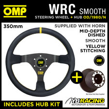 FORD FIESTA MK3 ALL 89-94 OMP WRC 350mm SMOOTH LEATHER STEERING WHEEL & HUB KIT!