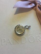 Genuine argento Pandora GALLEGGIANTI Medaglione con amore Cuore Ciondolo Charm 792019CZ