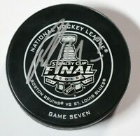 St. Louis Blues Pat Maroon Stanley Cup Final Game 7 Puck Autographed Patrick NHL