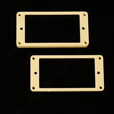 Set of 2 Humbucker Pickup Mounting Rings /bridge and neck/ ,Flat bottom Cream