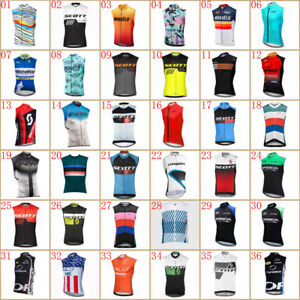 summer cycling sleeveless jersey mens bike vest / tops quick dry bicycle uniform