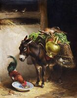 Ass & Cock by Dutch Henriette Ronner-Knip. Animals Repro choose Canvas or Paper
