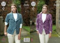ladies jacket  knitting pattern  4883 by king Cole