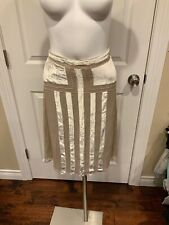 Magaschoni Gold Velvet & Silk Pencil Skirt, Size 6