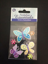 Sandylion Essentials BUTTERFLY BUTTERFLIES INSECTS 3D MULTI-COLORED BUTTERFLY