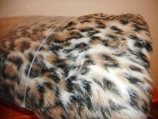 Tan Black Cream Brown Faux Fur Fabric 1 Yard 60 wide