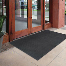 "72"" x 48"" Oversized Commercial Rubber Door Mat Large Outdoor Doormat Floor Black"