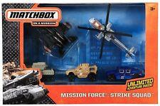 MATCHBOX MISSION FORCE STRIKE SQUAD 5 PACK VEHICLES CJL57  *NEW*