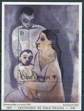 S.Tome Príncipe - 100 Geburtstag von Picasso Block 69 A postfrisch 1981 Mi. 721