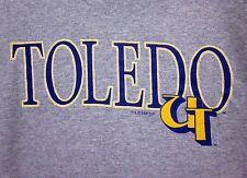 UNIVERSITY TOLEDO Rockets vtg sweatshirt Ohio 1980s logo UT crewneck XL