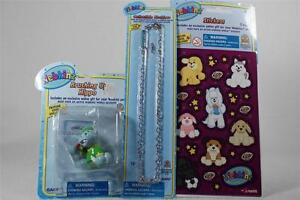 Webkinz Set of 3 'Brushing Up Hippo Figurine+Necklace+Stickers' All NEW!