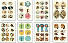 Cavallini-Lata De Decorativos Stickers-Vintage Gatos Y Perros - 100 + Surtidos