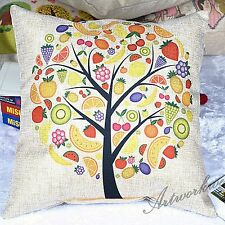 "A Fruit Tree Throw Pillow Case Cushion Cover Square 18"" Throw Sofa Pillow"