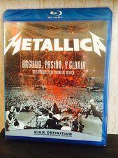 Metallica Orgullo Pasion Y Gloria Tres Noches En La Ciudad Mexico Blu-Ray Disc