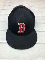 Boston Red Sox Baseball Hat Cap New Era MLB 8 64cm 59FIFTY Black Red