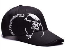 Mens Womens Skull Baseball Hat Hip Hop Adjustable Snapbacks Sport Visor Cap