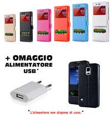 CUSTODIA COVER FLIP MAGNETICA VIEW PER LG K4 2017 + OMAGGIO ALIMENTATORE USB