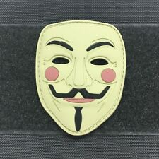 GUY FAWKES MASK 3D PVC MORALE PATCH - v for vendetta anonymous