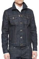 NWT Mens Burberry Brit Mid Indigo Blue Dark Wash Denim Jacket sz XL $495