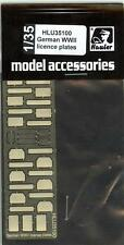 Hauler Models 135 GERMAN WORLD WAR II LICENSE PLATES Photo Etch Detail Set