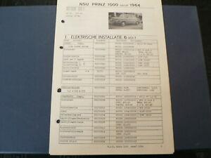 AT140 NSU PRINZ 1000 VANAF 1964 1000S EN 1000 L INFO TECHNICAL CAR AUTO