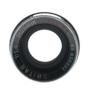Switar 1.4 f=25mm H16RX C-mount Bolex vintage camera lens f1.4 caps  pouch