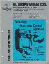 Rare Vintage 1981 H. Hoffman Co. Company Locksmith Supply Catalog Reference Book