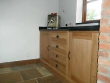 freestanding  oak and redwood solid bespoke kitchen cabinets