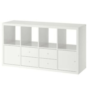IKEA KALLAX Shelving unit with 4 inserts - New ,  Genuine SEALED -Free Shipping