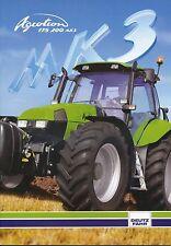 Deutz-Fahr Agrotron 175 200 MK3 Trecker Prospekt 1/02 Broschüre 2002 Traktor