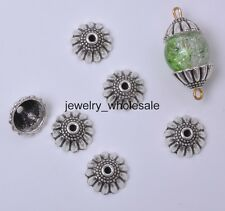 30pcs Tibetan Silver Flower Bead Caps Charm Beads Cap 11x5mm Jewelry D3046