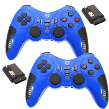 2X New Wireless Gamepad Controller Joystick + USB Receiver for PC Laptop Blue