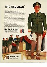 1951 U.S. ARMY Recruiting Recruitment Officer Candidate School Vintage Print Ad