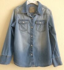 Girl's Next Faded Blue Denim shirt, 100% cotton, aged 6 years