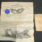 Presidential Appointment Certificate Andrew Johnson 1867 Military Edwin Stanton
