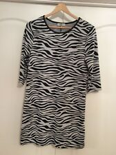 New Matalan Short Grey & Black Jumper Dress With 3/4 Sleeves Size 10