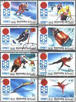 Manama 562A-569A (kompl.Ausg.) gestempelt 1971 Olymp. Winterspiele ´72, Sapporo