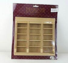 Dolls house furniture Oxford Triple Bookcase Designer Home 1:12 scale Wood 48