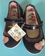 New! Nickelodeon Paw Patrol Navy Heart Shoes Toddler Girls  5.5M EUR21.5 MEX12.5