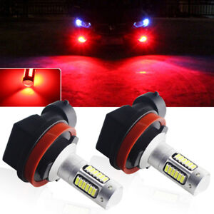 Brilliant Red 30-SMD H8 H11 H9 Super-Bright LED Fog Lamp Driving DRL Light Bulbs