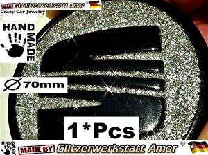 1°Pcs Crazy Car Jewelry Glitzer Auto Lenkrad Abzeichen Logo >Unikat by Amor* HOT