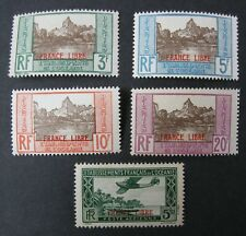 French Polynesia - Scott #s 126-135 + C2. MNH - FVF. Overprinted in Black & Red