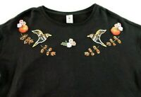 Disney Womens Size XL Lauren Conrad Humming Bird Black Pullover Sweater